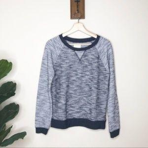 Levi's blue striped sparkle pullover sweatshirt